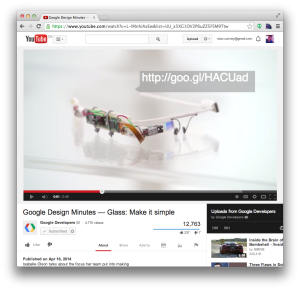 Google Developers video embedded with Google I/O registration URL.