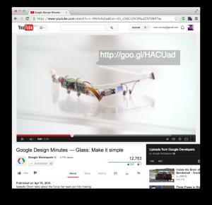 Google Developers video embedded with Google I/O registration URL.